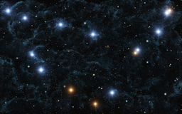 Capricorn. This image shows Capricorn with galactic nebula and bright stars Royalty Free Stock Images