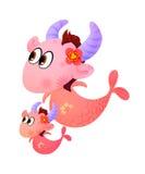 Capricorn or Sea Goat Twelve Zodiac Stock Photography