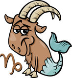 Capricorn or the sea goat zodiac sign vector illustration