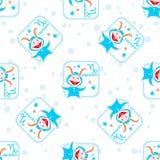 Capricorn seamless pattern Stock Photo