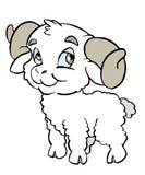 Capricorn Sign. Babys Zodiac Royalty Free Stock Image