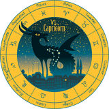 Capricorn signs of the zodiac Royalty Free Stock Photography
