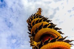Capricorn. He statue's arm in a Buddhist monastery in Thailand stock image