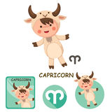Capricorn vector collection. zodiac signs Stock Images