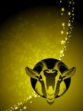 Capricorn zodiac background Stock Photography