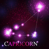 Capricorn zodiac sign of the beautiful bright Stock Photography