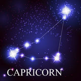 Capricorn zodiac sign of the beautiful bright Royalty Free Stock Images