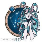 Capricorn. Zodiac sign Stock Images