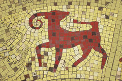 Capricorn. Zodiac sign image in a mosaic style Stock Photography