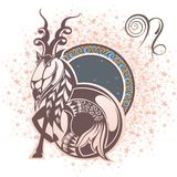 Capricorn. Zodiac sign vector illustration