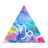 Capricorn zodiac sign Stock Image