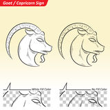 Capricorn Zodiac Star Sign Sketch Stock Images