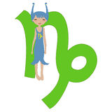 Capricorn zodiac symbol Royalty Free Stock Image