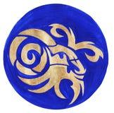 Capricorn Zodiac Symbol. Watercolor Illustration.The zodiac icon. Astrology