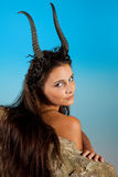 Capricorn zodiac woman. Capricorn or Goat woman, this photo is part of a series of twelve Zodiac signs of astrology Royalty Free Stock Photography