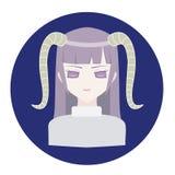 Capricorne d'icône de zodiaque d'horoscope Images libres de droits