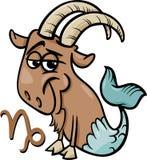 Capricorne ou le signe de zodiaque de chèvre de mer illustration de vecteur