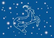 Capricornio de la constelación Imágenes de archivo libres de regalías
