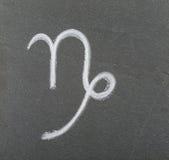 Capricornio de la muestra del zodiaco imagenes de archivo