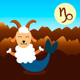 Capricornio de la muestra del zodiaco Foto de archivo libre de regalías