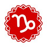 Capricornio de la muestra del zodiaco Imágenes de archivo libres de regalías