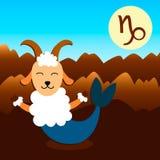 Capricorno del segno dello zodiaco fotografia stock libera da diritti