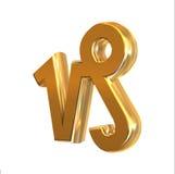 Capricorno dorato del segno dello zodiaco Fotografie Stock Libere da Diritti