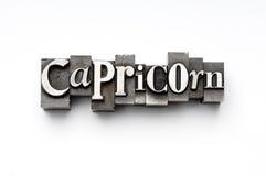 capricornteckenzodiac Arkivfoto