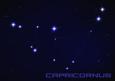 Capricornus constellation Royalty Free Stock Images