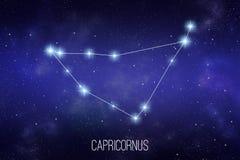 Capricornus zodiac constellation illustration royalty free illustration