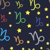 Capricornus zodiac sign seamless texture Royalty Free Stock Photography