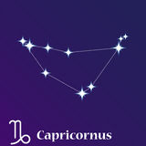Capricornus zodiacal constellation vector illustration, horoscop Stock Photography