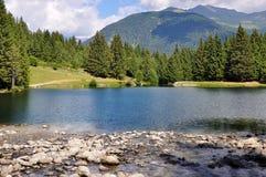Caprioli Lake Pelizzano Italy Summer Stock Photography