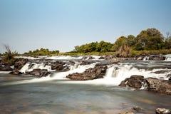 caprivi秋天著名纳米比亚北部popa 库存照片