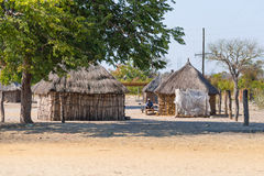 Caprivi, Namibia - August 20, 2016: Poor people busy in their village in the rural Caprivi Strip, the most populated region in Nam royalty free stock photography