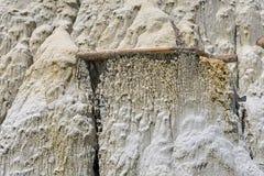 Caprock侵蚀样式在荒地 库存照片