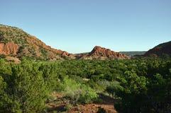 Caprock kanjon Arkivfoto