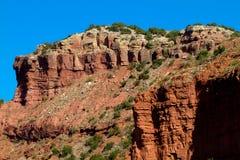 Caprock kanjondelstatspark i Texas Fotografering för Bildbyråer