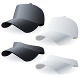 Caps. Vector illustration of white and black caps Stock Photo