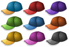 Caps in different colors Royalty Free Stock Images