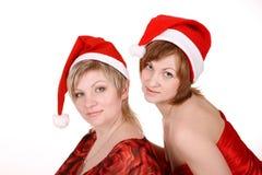 caps kvinnor för red två Royaltyfria Bilder