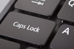 Caps lock Royalty Free Stock Photo