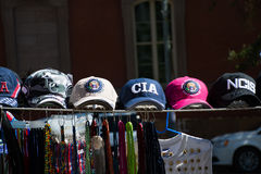Caps for sale on the street in Washington DC Royalty Free Stock Images