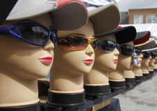 Caps, Shades, and Dummies Royalty Free Stock Photos
