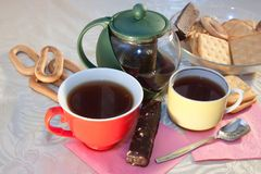 Caps of tea Royalty Free Stock Image