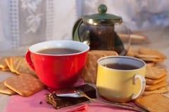 Caps of tea Stock Photos
