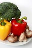 Capsico, broccolo e funghi Immagine Stock Libera da Diritti