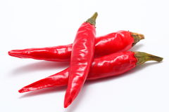 Capsicum. On white background close up shoot royalty free stock photo