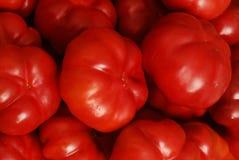Capsicum. Close-up background with fresh red capsicum Stock Photo