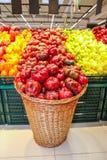 Capsicum in basket Stock Image